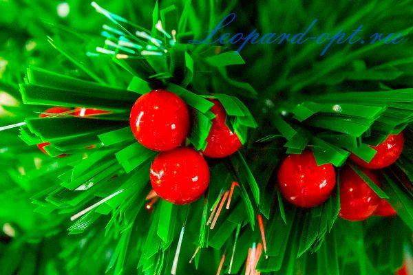 Елка с ягодами и шишками светодиодная (оптоволокно)