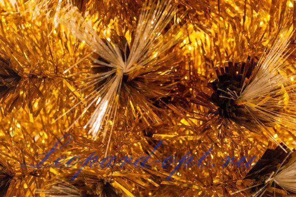 Елка светодиодная золотая (оптоволокно)