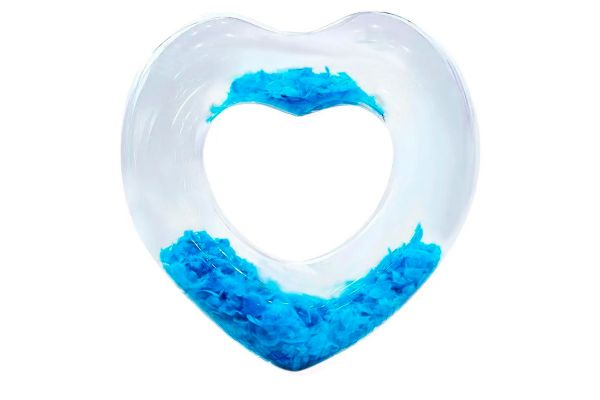Надувной круг «Сердце» с перьями