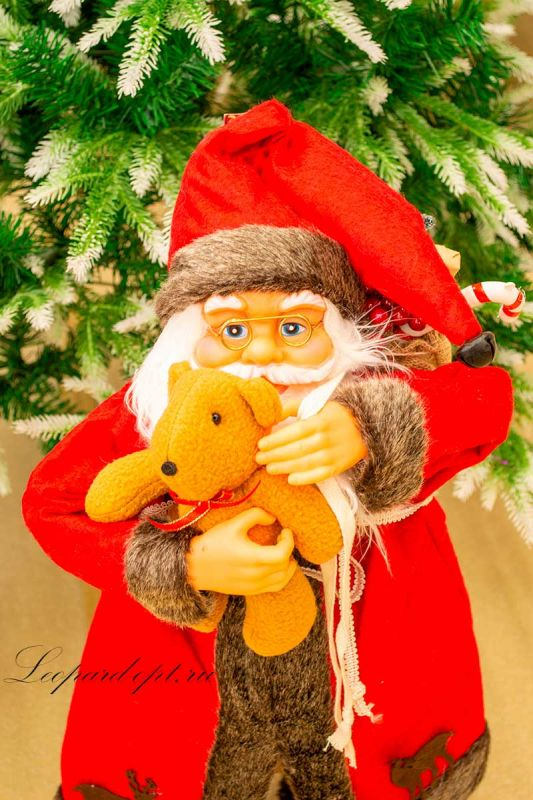Декоративная фигура «Санта Клаус с мишкой»