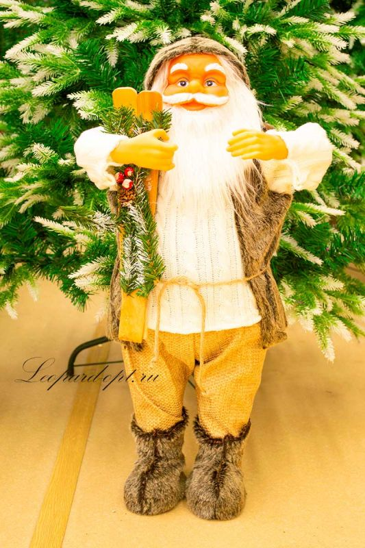 Декоративная фигура «Санта Клаус с лыжами»