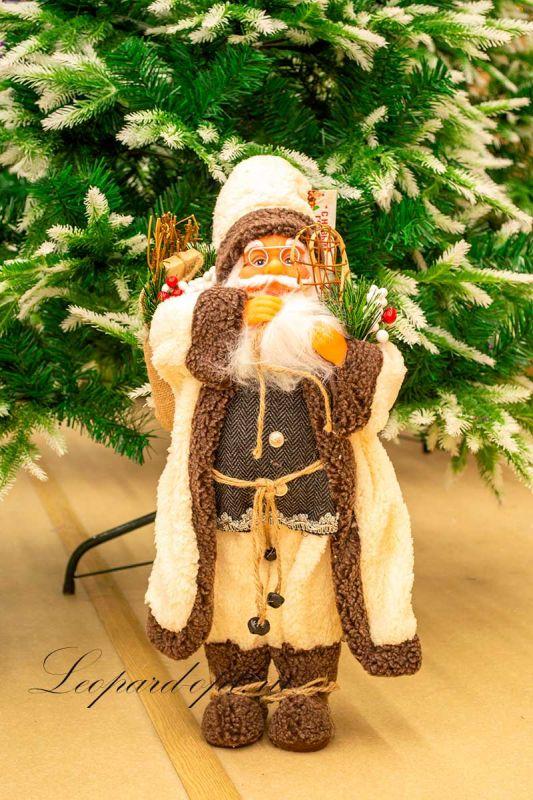 """Декоративная фигура «Санта Клаус со снегоступами"""""""