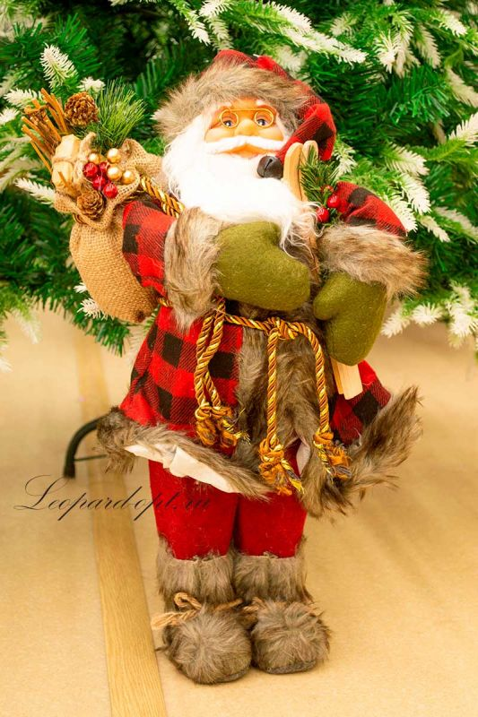 Декоративная фигура «Санта Клаус в клетчатом костюме»
