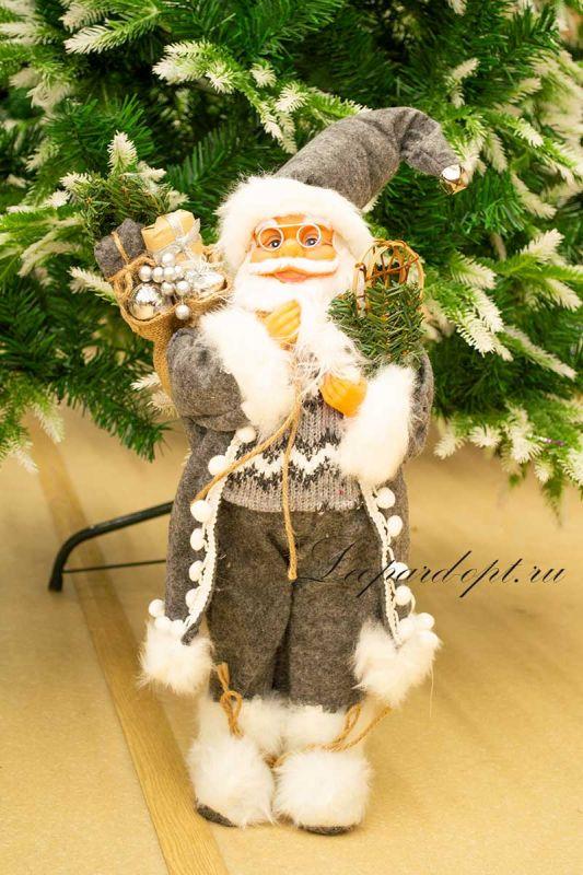 Декоративная фигура «Санта Клаус со снегоступами»